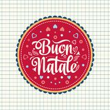 Buon Natale. Christmas template. Stock Photography