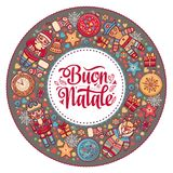 Buon Natale. Christmas template. Royalty Free Stock Photos
