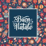 Buon Natale. Christmas template. Royalty Free Stock Image
