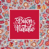 Buon Natale. Christmas template. Stock Images
