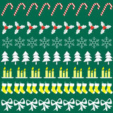 Buon Natale con gli elementi delle decorazioni Immagini Stock