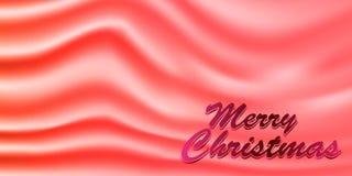 Buon Natale con il bello fondo di struttura del raso EPS10 Fotografia Stock