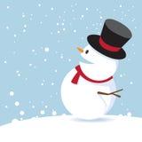 Buon Natale con il pupazzo di neve. Fotografia Stock Libera da Diritti