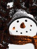Buon Natale con il pupazzo di neve Immagine Stock
