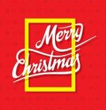 Buon Natale creativo che accoglie progettazione illustrazione di stock