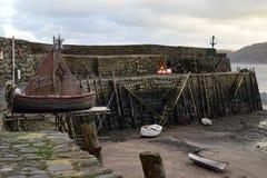 Buon Natale dal porto di Clovelly, Devon Immagini Stock Libere da Diritti