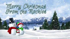 Buon Natale dalle Montagne Rocciose illustrazione di stock