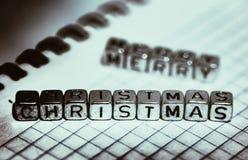 Buon Natale dell'iscrizione fotografia stock libera da diritti