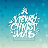 Buon Natale dell'iscrizione approssimativa della mano della spazzola ' illustrazione di stock