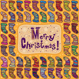 Buon Natale della cartolina d'auguri Immagini Stock