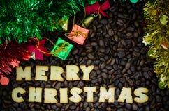 Buon Natale di alfabeto fatto dai biscotti del pane Fotografie Stock Libere da Diritti
