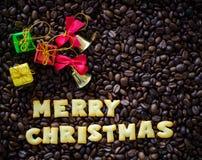 Buon Natale di alfabeto fatto dai biscotti del pane Fotografia Stock Libera da Diritti
