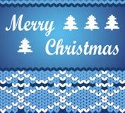 Buon Natale di vettore che segna modello con lettere decorativo Il natale accoglie Fotografie Stock Libere da Diritti