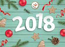 Buon Natale e buon anno 2018! Immagini Stock Libere da Diritti