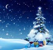 Buon Natale e buon anno Ca accogliente immagine stock libera da diritti