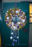 Buon Natale e buon anno della decorazione della corona di Natale Immagine Stock