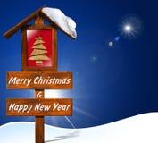 Buon Natale e buon anno illustrazione di stock