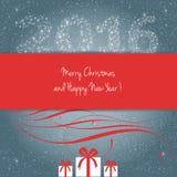 Buon Natale e buon anno 2016 Immagine Stock Libera da Diritti