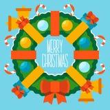Buon Natale e buon anno Immagini Stock