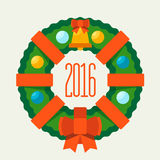 Buon Natale e buon anno 2016 Immagine Stock