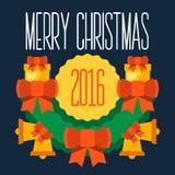 Buon Natale e buon anno 2016 Immagini Stock Libere da Diritti