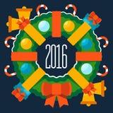 Buon Natale e buon anno 2016 Fotografie Stock