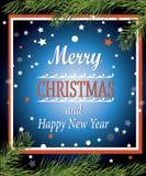 Buon Natale e buon anno! Fotografie Stock Libere da Diritti