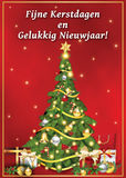 Buon Natale e buon anno! cartolina d'auguri stampabile corporativa Immagine Stock