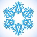 Buon Natale e buon anno dei fiocchi di neve di inverno dell'acquerello Immagine Stock