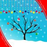 Buon Natale e buon anno della cartolina Fotografia Stock Libera da Diritti