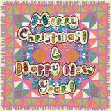 Buon Natale e buon anno della cartolina d'auguri Immagine Stock Libera da Diritti