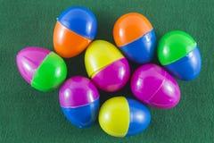 Buon Natale e buon anno, uova di Pasqua Immagine Stock