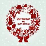 Buon Natale e carta del buon anno Fotografie Stock Libere da Diritti