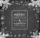Buon Natale e carta del buon anno Immagini Stock Libere da Diritti