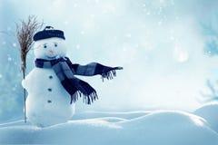 Buon Natale e cartolina d'auguri del buon anno con copia-spazio Fotografia Stock Libera da Diritti