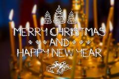 Buon Natale e cartolina d'auguri dell'nuovo anno Fotografie Stock