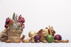 Buon Natale e concetto del buon anno Primo piano, fondo di festa di natale immagine stock libera da diritti