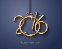 2016 Buon Natale e fondo del buon anno Immagine Stock Libera da Diritti