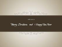 Buon Natale e fondo del buon anno, vettore Immagini Stock