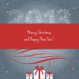 Buon Natale e nuovo anno felice 2013! Immagini Stock Libere da Diritti