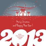 Buon Natale e nuovo anno felice 2013! Fotografie Stock Libere da Diritti