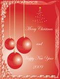 Buon Natale e nuovo anno felice illustrazione vettoriale
