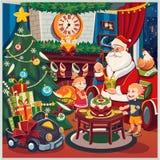 Buon Natale e nuovo anno Il Babbo Natale _2 Fotografie Stock