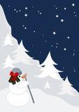 Buon Natale e un nuovo anno felice illustrazione vettoriale