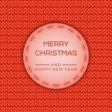 Buon Natale e una nuova insegna felice da 2019 anni, manifesto nell'effetto tricottato Fondo di riserva di vettore Archivio eps10 royalty illustrazione gratis
