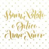 Buon Natale, Felice Anno Nuovo italian greeting Royalty Free Stock Photo