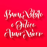 Buon Natale, Felice Anno Nuovo italiensk hälsning Royaltyfri Bild