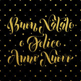 Buon Natale, Felice Anno Nuovo italiensk hälsning Royaltyfria Bilder