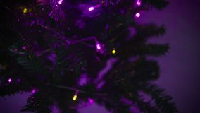 Buon Natale felice con il metraggio dell'abete stock footage