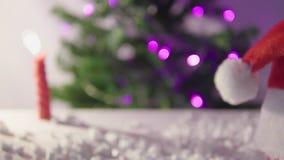 Buon Natale felice con il metraggio dell'abete archivi video